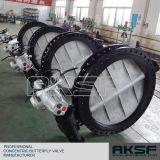 Válvula de borboleta de empacotamento de Casted da engrenagem de sem-fim da caixa de madeira da fumigação na válvula de Tianjin Exxon