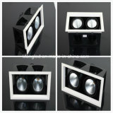 Double Heads Black Design LED Grille Lamp 2 * 12W 220V COB LED Downlight com 3 anos de garantia