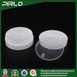vaso crema di plastica di lusso di figura di 30g 1oz del vaso di pelle di cura della crema del vaso del contenitore facciale vuoto di plastica Oblate doppio pp della mascherina