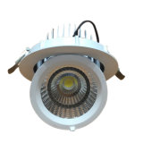 Embedded orientable COB Downlight LED con 30W