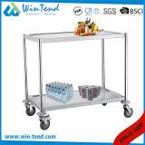 Hôpital tranquille mobile facile de la vente 2 de tube rond chaud de rangées et chariot médical avec des roues