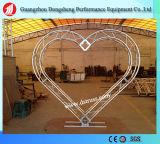 Ферменная конструкция этапа освещения винта ферменной конструкции формы сердца алюминиевая квадратная
