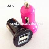 Mais novo carregador de carro USB de 2 portas para celular