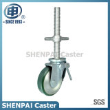 Roulette pivotante en acier inoxydable en acier inoxydable de 5 po
