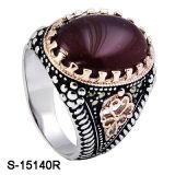 구리는 형식 보석 925 은 남자 반지를 둥글게 된다