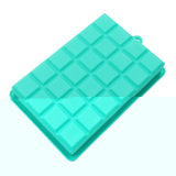 Molde material del silicón del color de Mintcream de la categoría alimenticia del certificado del nuevo producto FDA, bandeja del cubo de hielo de /Silicone del molde del pudín del silicón
