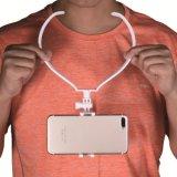 De universele Houder van de Telefoon van de Cel de Luie Houder van de Ring van de Hals voor iPhone Samsung