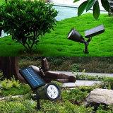 luz al aire libre del jardín de la iluminación LED de la luz solar del punto de 2W
