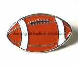 カスタム金属のラグビーのボールクラブ亜鉛合金Pinのバッジ