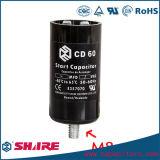 CD60 알루미늄 전해질 축전기 165VAC CD60 모터 시작 축전기