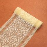 Tissu rose de lacet de broderie de modèle de fleurs de textile de couleur pour la robe