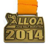 La stella mezza antica della polizia di Pin dell'aereo del medaglione di maratona della pressofusione