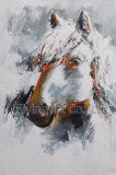 La reproduction de peinture d'huile d'artisanat pour l'art mural cheval