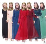 Robe en gros de fournisseur d'OEM Chine de vêtement de dames Abaya Egypte de Kafan