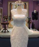 Neues Kurzschluss-Hochzeits-Kleid der Ankunfts-2017 mit empfindlicher Blume