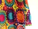 Vestito 100% da sera lungo dell'annata classica del Crochet della mano del cotone