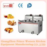 6L Commerical Electric Double friteuse en acier inoxydable French Fries Fryer Machine