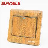 Interruptor de madera de la cuadrilla del color uno de la pintura de caoba