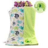 Short Fleece Baby Blanket con Sherpa Backside con bordado