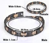Armband van de Gezondheid van het Element van Hottime Trendy Bio met Roestvrij staal