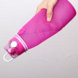 A perfetta tenuta materiali del silicone leggero portatile piegano in su la bottiglia di acqua