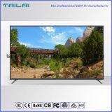 """A nova moldura estreita de 55"""" de uma categoria de instrumentos de alta definição total 1080P DVB-T T2 LED TV via satélite"""