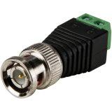 Männliche BNC Verbinder-Koaxialität Cat5 Mann Kamera CCTVBNC zum video Balun-Verbinder CCTV-BNC dem Lot zur Klemmenleiste-100PCS/