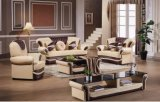 居間のDivaniの現代本革のソファ