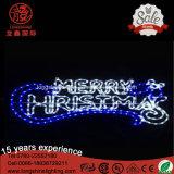 Indicatore luminoso di Buon Natale della lettera di RoHS IP65 220V 12V del Ce della candela del LED per la decorazione della via del Palo