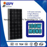 Monocrystalline польза -Решетки панели солнечных батарей 100W
