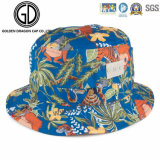 2017 Tie Dyed Reversible Cotton Escovado Bucket Hat com patch personalizado