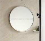 Migliore vanità della stanza da bagno dell'acciaio inossidabile di vendita con lo specchio rotondo (092)