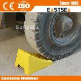 Doppio cuneo giallo di plastica poco costoso di arresto della rotella per le automobili