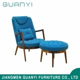 Modern Design Back-Rest Armchair Lounge Flesh with Footstool