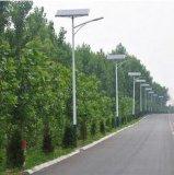 iluminação de rua solar da lâmpada do diodo emissor de luz de 8m 9m pólo claro 60W