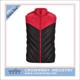 Unisex Padding Polyester Hoody Vest pour homme et femme Waistcoat