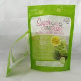 Zip 자물쇠 식품 포장은 설탕을%s 주머니 부대를 위로 서 있다