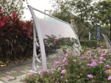 Tampa plástica resistente da chuva do vento impermeável do dossel da porta para o balcão