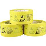Gelbes Verpackungs-Band mit ESD-WARNING