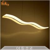 Comedor de la curva de luz LED Colgante lámpara colgante de acrílico