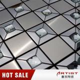 Het Glas van de Spiegel van de Diamant van de Mengeling van het Mozaïek van het Roestvrij staal van Guangdong