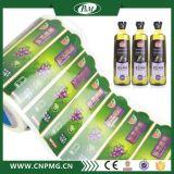 Kundenspezifischer BOPP Aufkleber-Kennsatz des besten Preis-für Plastikglasflasche