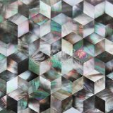Azulejo de mosaico negro del Rhombus del shell de la fregona del labio