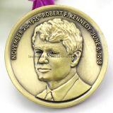 Moneda del recuerdo de la aleación 3D del cinc para Roberto F. Kennedy