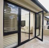 高品質のアルミニウム開き窓のドア