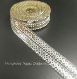 Form MehrfarbenHotfix Rhinestonesequin-Ordnungs-Eisenrhinestone-Kette für Kleid/Beutel (TS-Mehrfarbenkette)