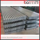 Folha de rolo de aço galvanizado para coberturas metálicas