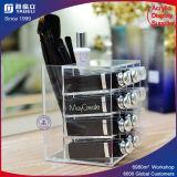 Acrílico Display cosmética 16 ranuras de barras de labios sostenedor del soporte