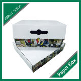Caixa de expedição de papelão ondulado personalizados com pega para Suits por grosso