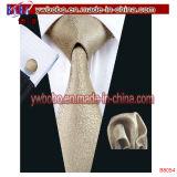 ブラウンのポルカドットの絹の細く狭い人のハンカチーフのネクタイ(B8055)